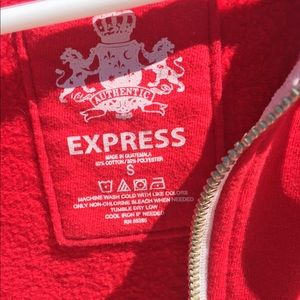 Express Sweaters - Mens Express Red Zip Up